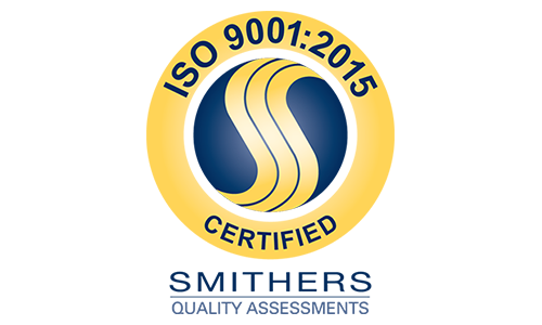 Smithers Quality Assessments ISO 9001:2015 Certification Badge